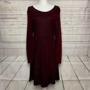 Molly Malloy Dress Vintage Wine Long Sleeve Size 8